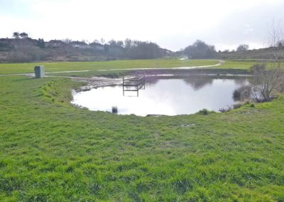 The fishing lake at Bourne Valley Park