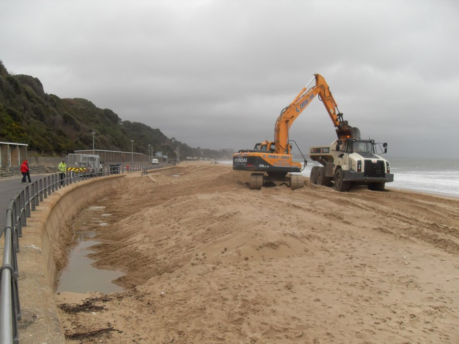 Sand Recycling Trials on Poole's Beaches 2013