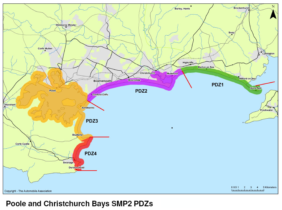 SMP2 map showing Policy Development Zones (PDZs)