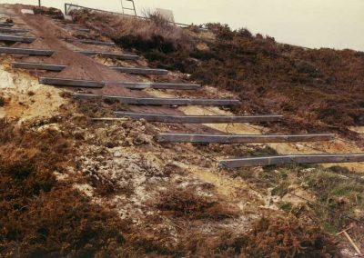 1970s cable and beam cliff stabilisation