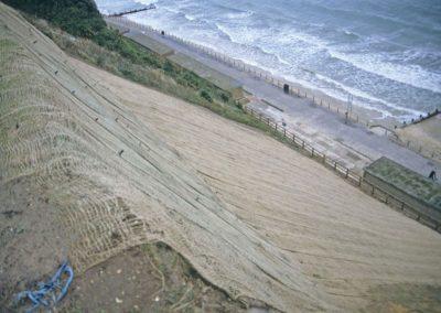 1993 slip, geotextile over soil nails