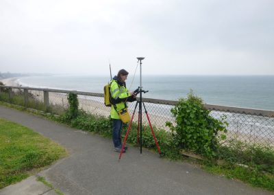 2. Scanner targets are set on the markers each time a new scan is undertaken, enabling the scan data to be coordinated to Ordnance Survey grid