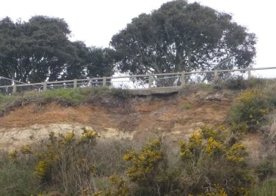 The slip also undermined a section of footpath on Cliff Drive