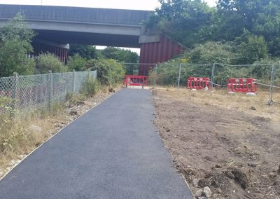 The path now has it's tarmac topping