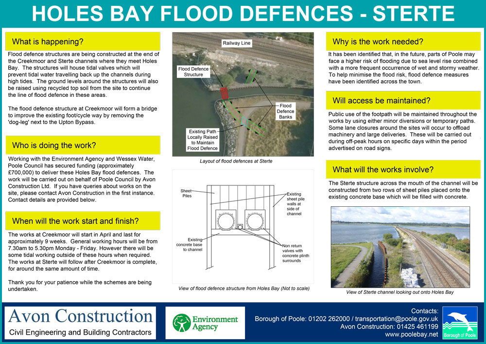 The Sterte Channel works site notice (PDF download)