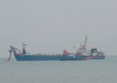 Volvox Scaldia off the coast of Swanage 08.12.05