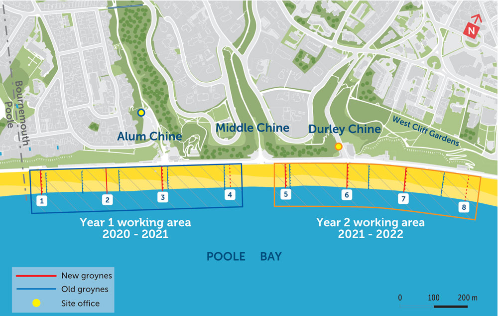 The 2-year timber groyne renewal project plan
