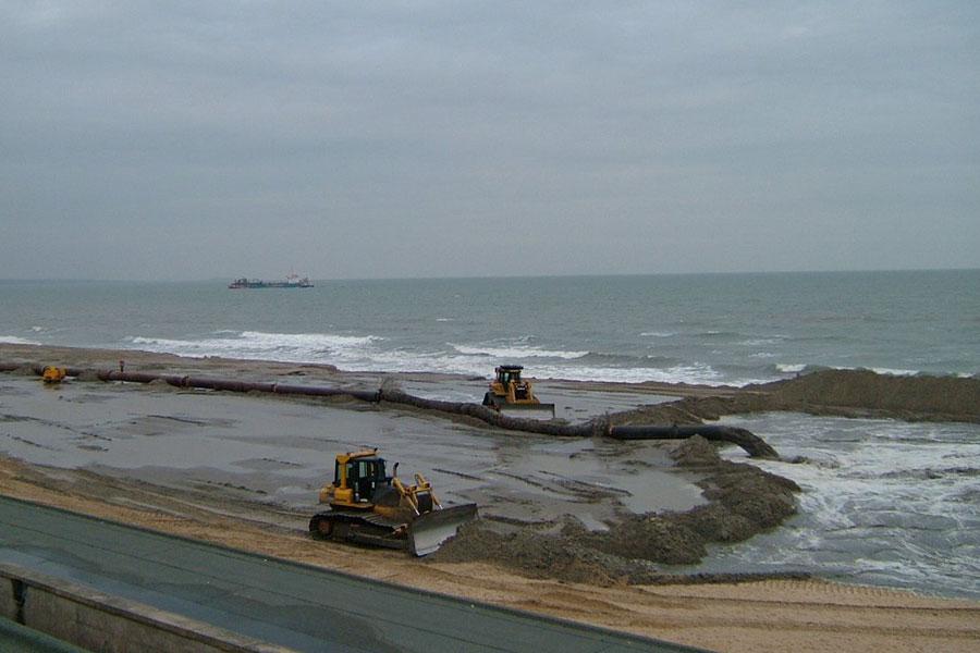 Beach renourishment at Poole Bay
