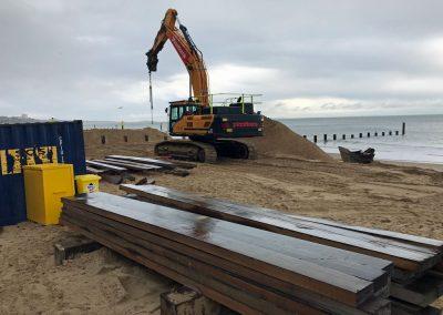 Planks ready for a new groyne