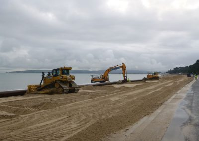Up to 2km of pipeline will be created to pump sand ashore