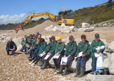 Forres Sandle Manor School, Year 6 at Highcliffe beach