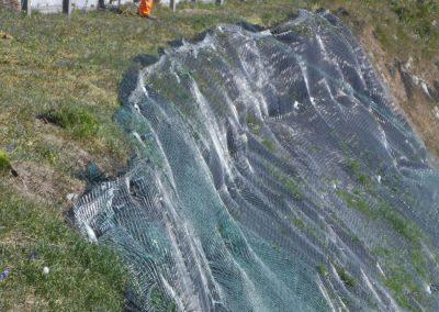 Hydro-seeding at Canford Cliffs