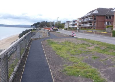 Clifftop footpath paving and fencing is complete