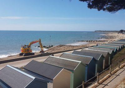 Christchurch Beach Recycling and Rock Groyne Repairs, spring 2021