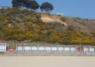 Beach Huts below the 2017 cliff slip are due to be re-opened to their tenants