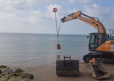 New groyne marker being installed