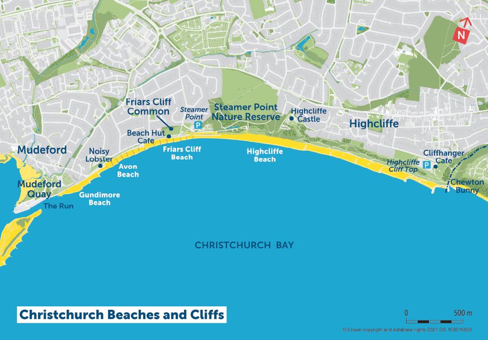 PDZ1 Map 3 Christchurch Beaches and Cliffs