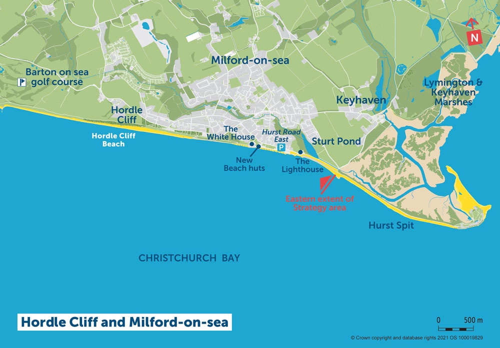 PDZ1 Map 5 Hordle Cliff and Milford-on-Sea