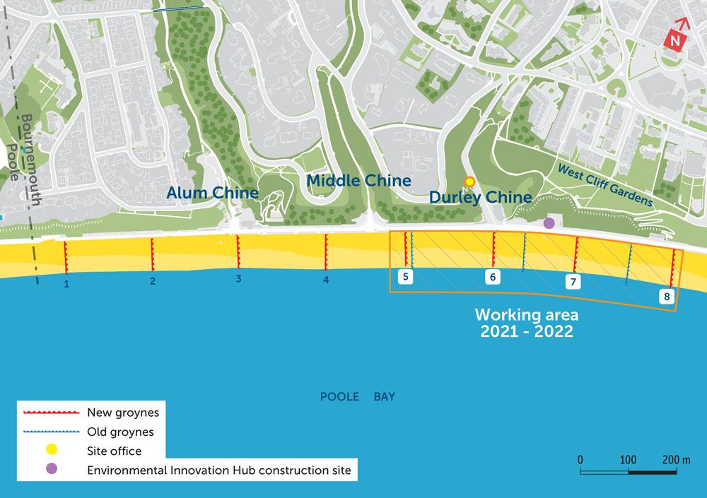Poole Bay Timber Groyne renewal 2021/22